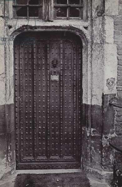 The Head Master's Door, Eton (b/w photo)