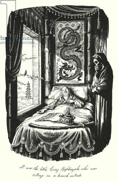 Hans Christian Andersen: The Nightingale (litho)