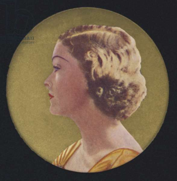 Myrna Loy (colour litho)