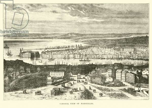 General view of Marseilles (engraving)