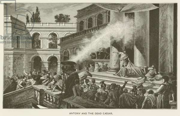 Antony and the dead Caesar (engraving)