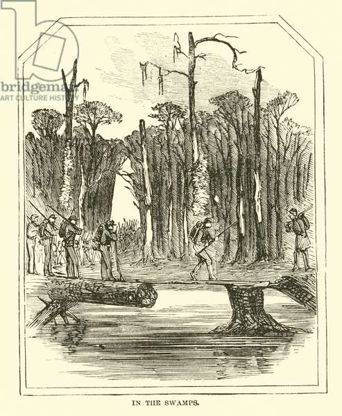 In the swamps, March 1863 (engraving)