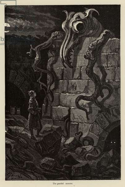 The gnarled monster (engraving)