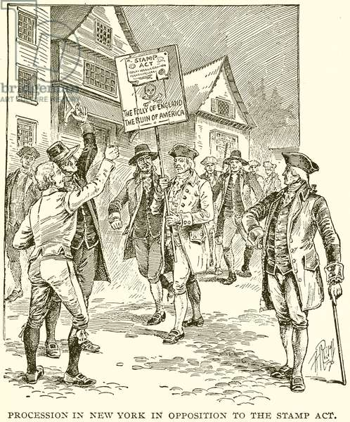 Procession in New York in Opposition to the Stamp Act (engraving)