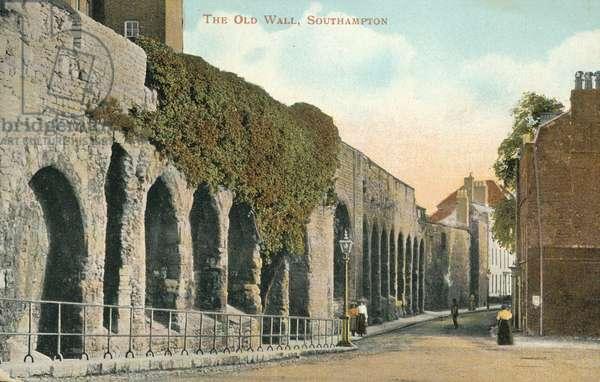 The Old Wall, Southampton (colour photo)