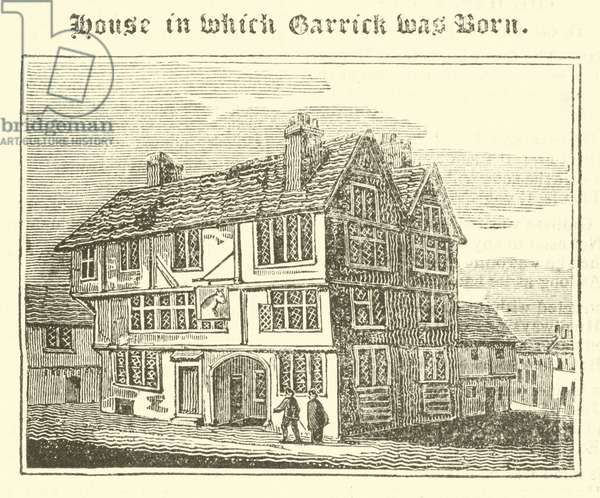 House in which Garrick was Born (engraving)