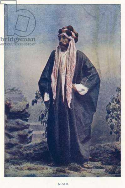 Indian Natives: Arab (coloured photo)