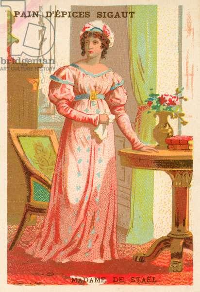 Madame de Stael, French author (chromolitho)