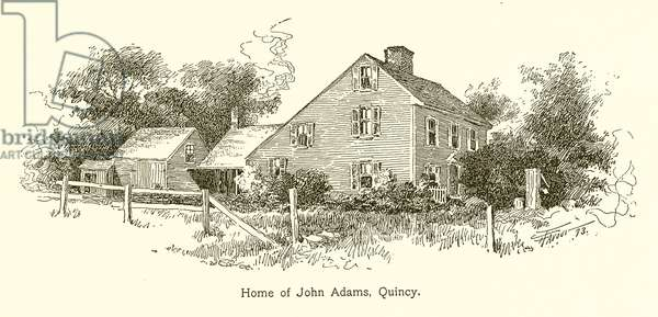 Home of John Adams, Quincy (engraving)