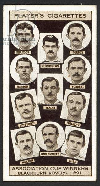 Association Cup Winners, Blackburn Rovers, 1891 (litho)
