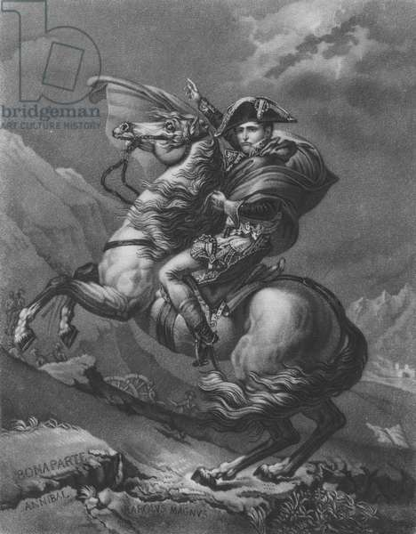Napoleon Bonaparte crossing the Alps (engraving)