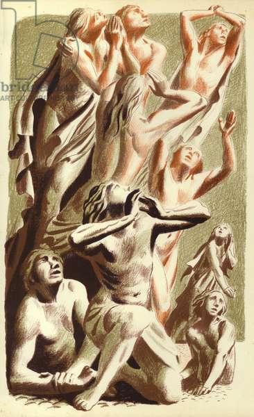 Revelation of St John: The Last Judgment (colour litho)