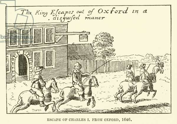 Escape of Charles I, from Oxford, 1646 (engraving)