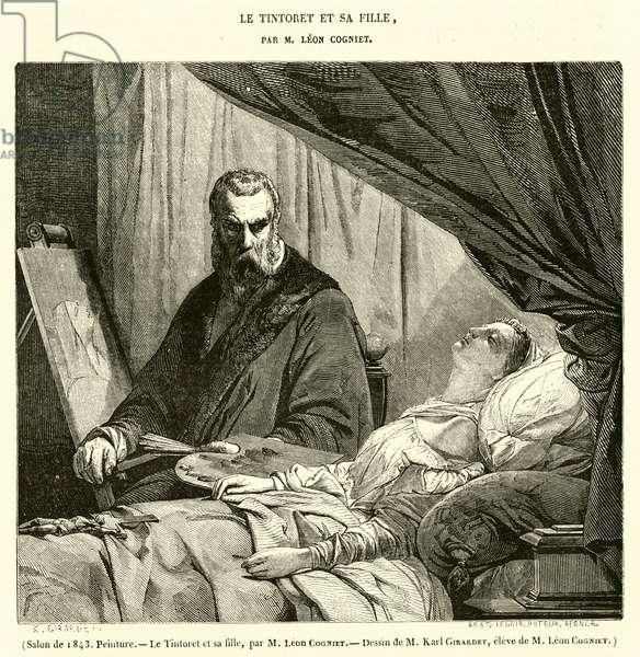 Salon de 1843, Peinture, Le Tintoret et sa fille (engraving)