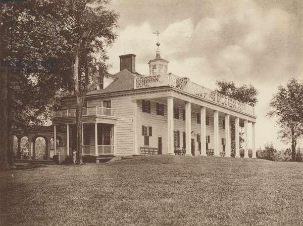 Washington's Mansion, Mount Vernon (b/w photo)