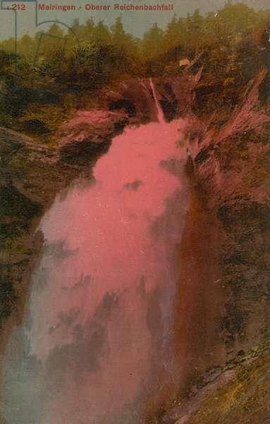 Meiringen - Oberer Reichenbachfall. Postcard sent in 1913.