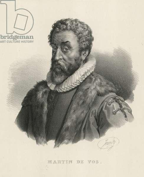 Marten de Vos, Flemish artist (litho)