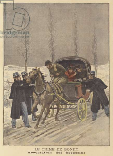 The Bondy murder: the arrest of the murderers (colour litho)