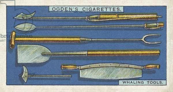 Whaling, Whaling Tools, Old Style (chromolitho)