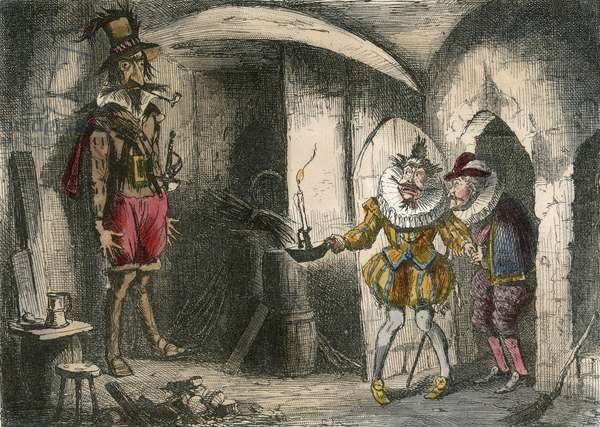 Discovery of Guido Fawkes by Suffolk and Mounteagle.