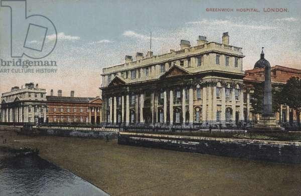Greenwich Hospital, London (coloured photo)