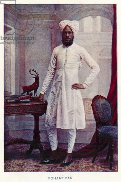 Indian Natives: Mohamedan (coloured photo)