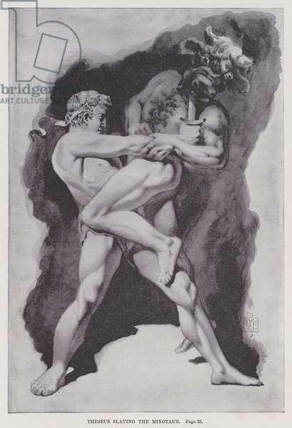 Theseus slaying the Minotaur (litho)