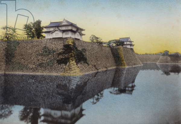 Japan, c.1912: The Osaka Castle build in 1583 by Hideyoshi (photo)
