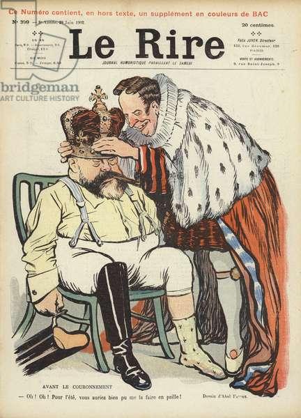 Coronation of King Edward VII, illustration for Le Rire (colour litho)