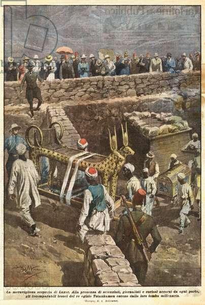 La meravigliosa scoperta di Luxor (colour litho)