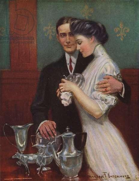 Tending the Silver (colour litho)