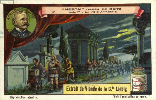 The Appian Way, scene from Italian composer Arrigo Boito's opera Nerone (chromolitho)