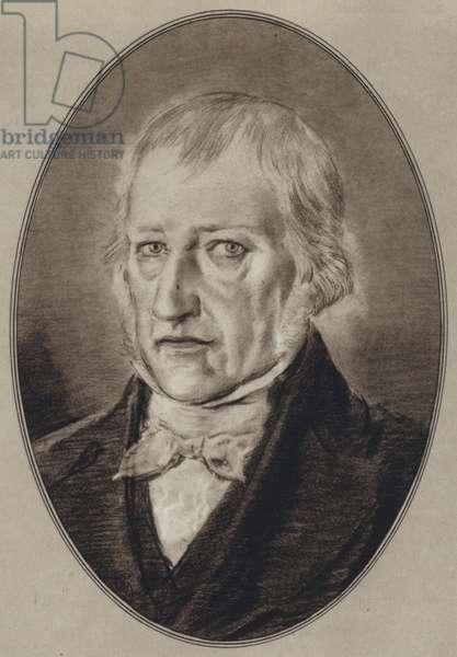 Portraits of Great Philosophers: Hegel (litho)