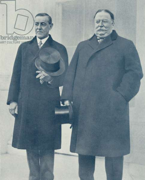 President Woodrow Wilson and Ex-President Taft in Washington (b/w photo)