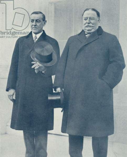President Woodrow Wilson and Ex-President Taft in Washington (b/w photo)