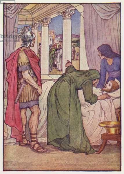 Jesus and the Centurion (colour litho)