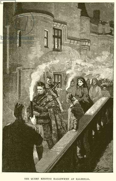 The Queen keeping Halloween at Balmoral (engraving)