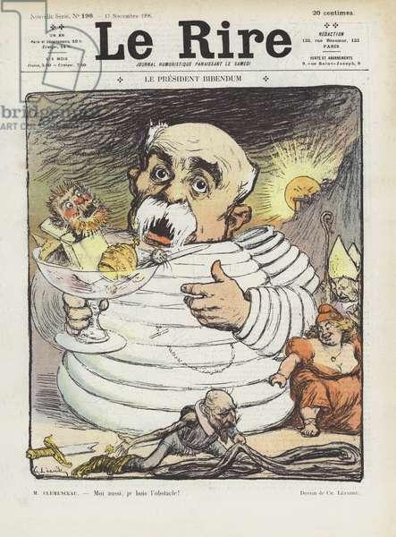 President Bibendum. Illustration for Le Rire (colour litho)
