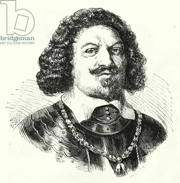 Ottavio Piccolomini, Italian general in the army of the Holy Roman Empire in the Thirty Years War (engraving)