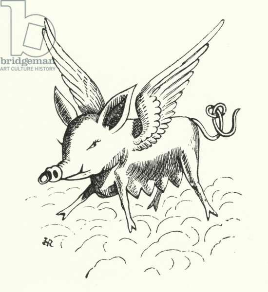 Flying pig (litho)