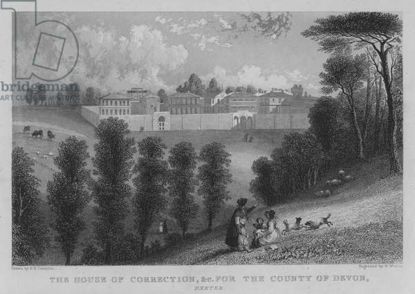 The House of Correction, etc for the County of Devon, Exeter (engraving)