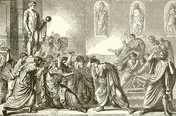 The Murder of the Julius Caesar (engraving)