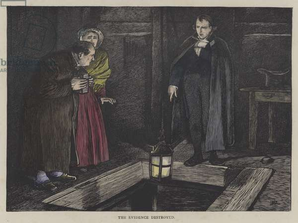 Illustration for Oliver Twist (coloured engraving)