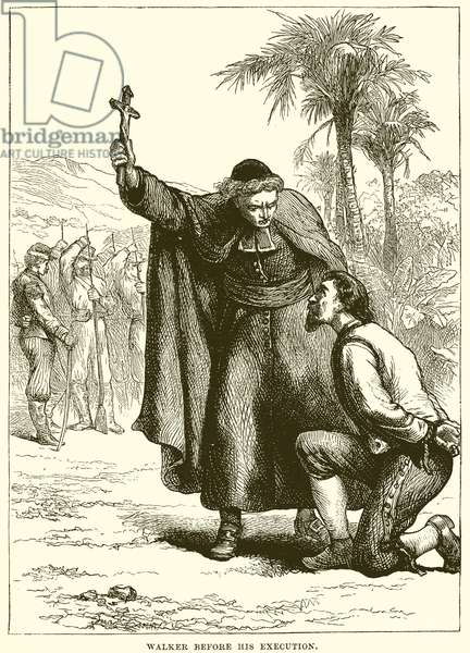 Walker before his execution (engraving)