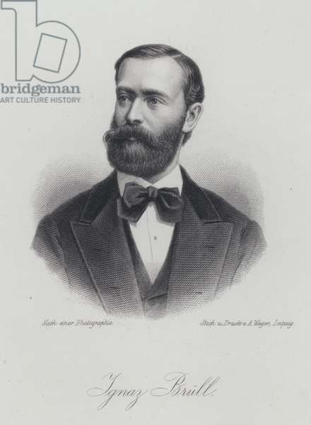 Ignaz Brull, Moravian-born Austrian pianist and composer (engraving)