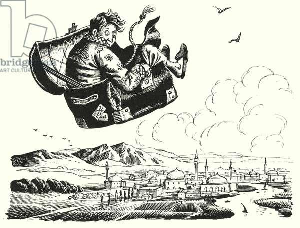 Hans Christian Andersen: The Flying Trunk (litho)