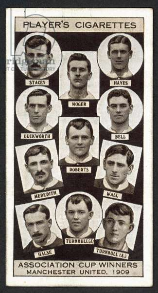 Association Cup Winners, Manchester United, 1909 (litho)