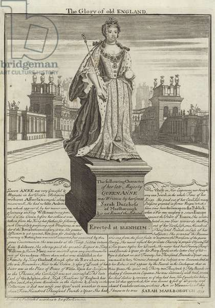 Statue of Anne, Queen of Great Britain (engraving)