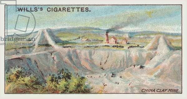 China clay mine (chromolitho)