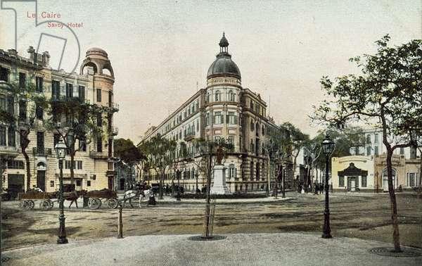 Le Caire, Savoy Hotel (colour photo)
